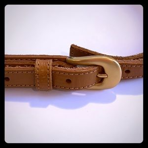 NWT -Joes Jeans tan leather belt w gold buckle